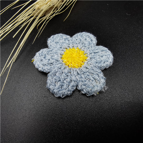 Blue Flower Embroidered kids trim Patch For Garment 2020