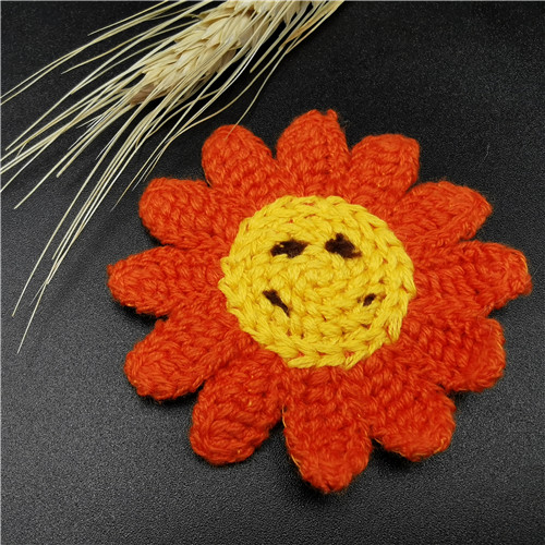 Lovely Sunflower Embroidered Kids Patch trim