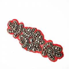 hot sale embroidered hand made beaded patch