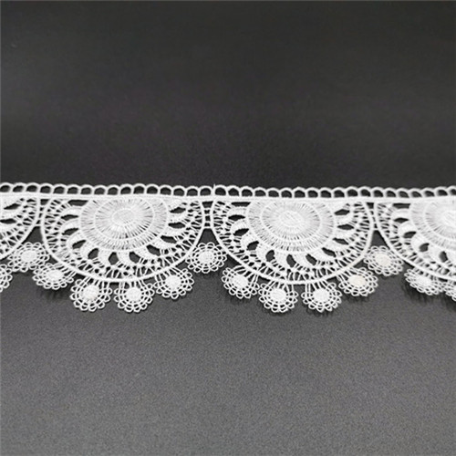 wave polyester french embroidered lace