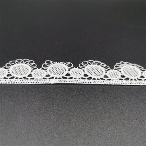 embroidery polyester sunflower lace trim