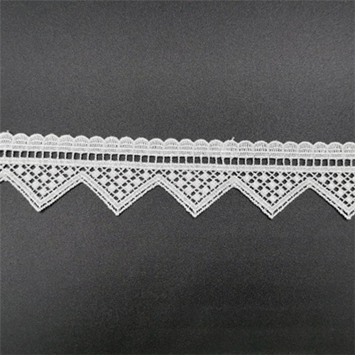 bordered fancy wave lace trim