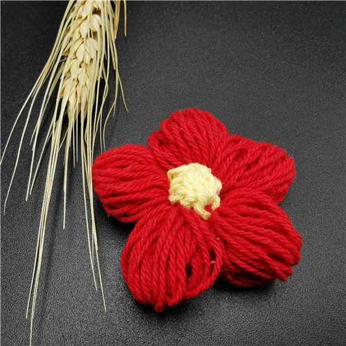 red embroidered flower kids trim patch