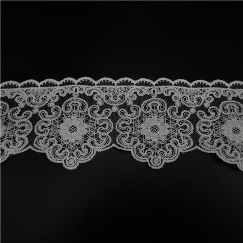 wave flower embroider water soluble lace