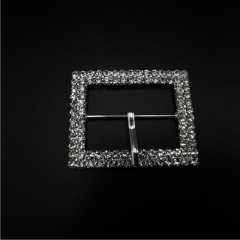 shiny diamond square belt buckle