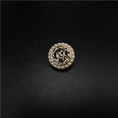 metal pearl round button for garment