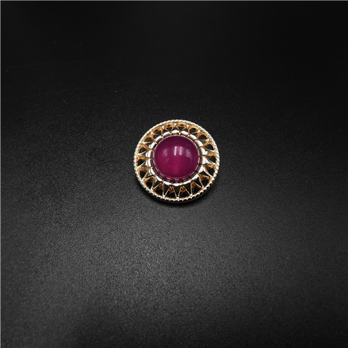 eco friendly red jewelry button