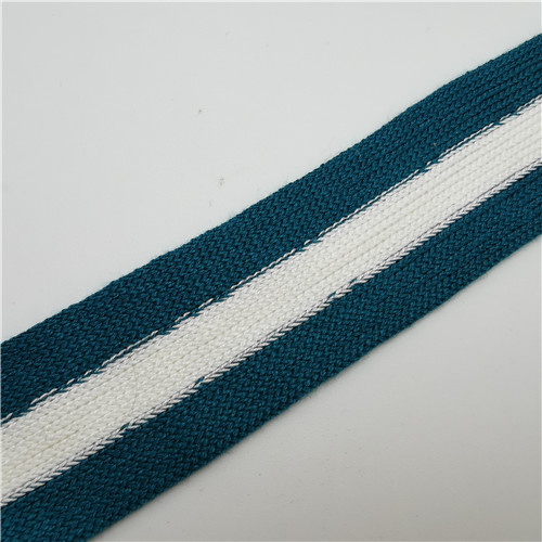 blue and white grain knitting webbing 30mm