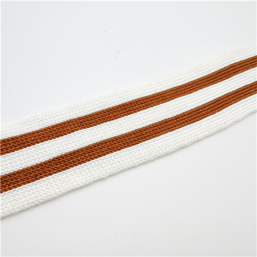 off white and earthyellow grain stripe knitting tape