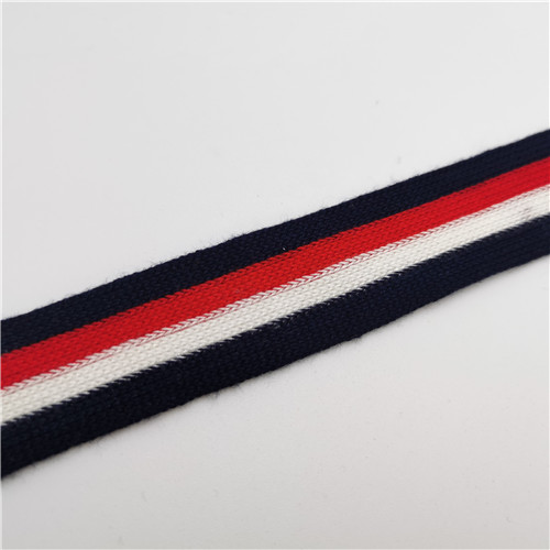 polyester stripe twill three coloful ribbon french tape