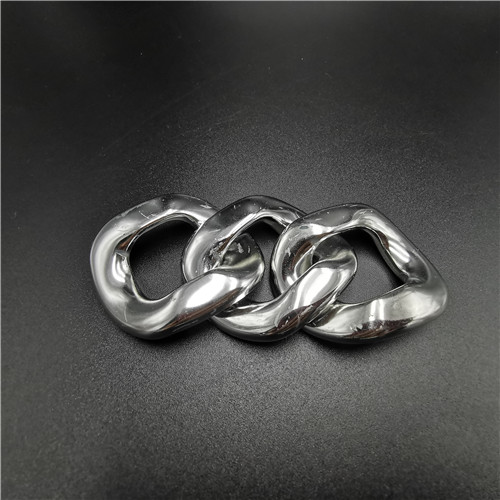 fashion silver ABS plastic chain buckle removable buckle for garment