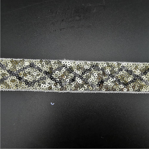 3cm embroidered sequins lace trimming