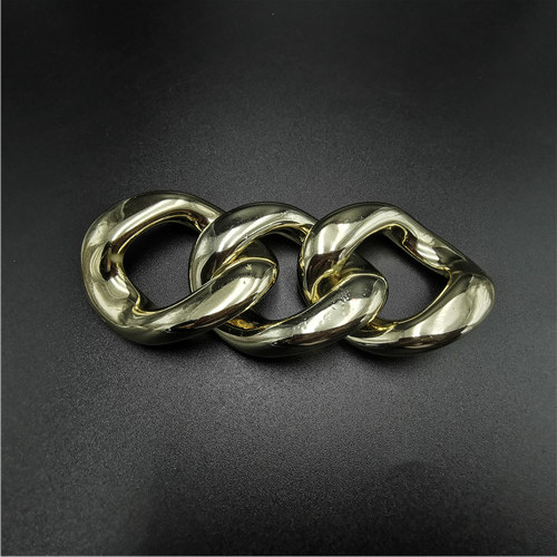wholesale gold ABS plastic chain buckle removable buckle for garment