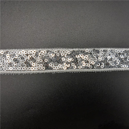 high quality 2cm embroidery sequin tape trimming