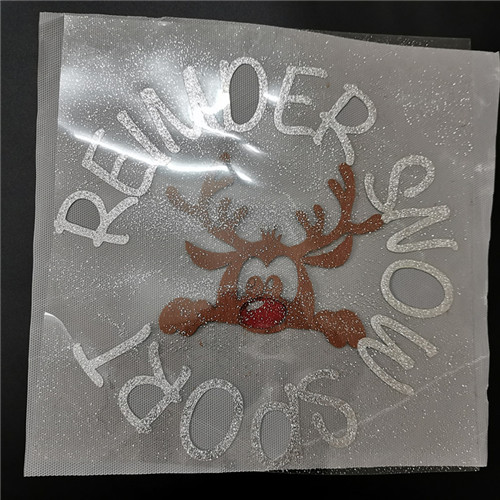 Custom Christmas decoration garment accessories 3D heat transfer patches